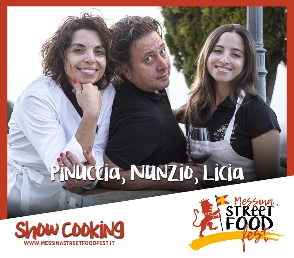 Show Cooking chef Pinuccia, Nuncio, Lucia