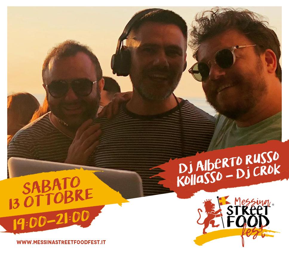 Messina Street Food Fest 2018 Spettacolo Dj Alberto Russo - Kollasso - Dj crok