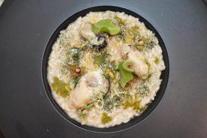 Risotto mojito ostriche e ricotta Pasquale Caliri Messina Street Food Fest